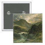 A Canyon, 1878 2 Inch Square Button