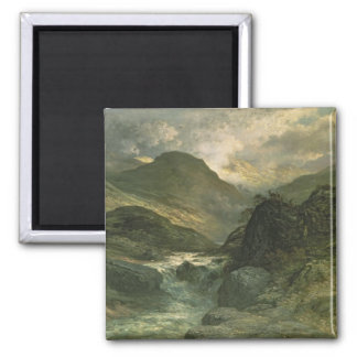 A Canyon, 1878 2 Inch Square Magnet