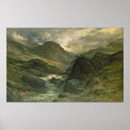 A Canyon, 1878 Poster