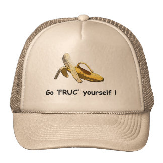 A cap with a banana and slogan trucker hat