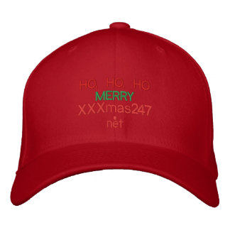 "A cap wIth HO, HO, HO ""MERRY XXXmas247.net"" On It Embroidered Hats"
