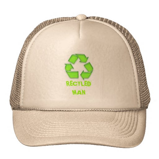 A Cap with RECYLED MAN on it Mesh Hat