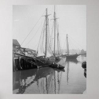 A Cape Ann Fishing Schooner Poster