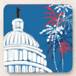 A Capitol Fourth Beverage Coaster