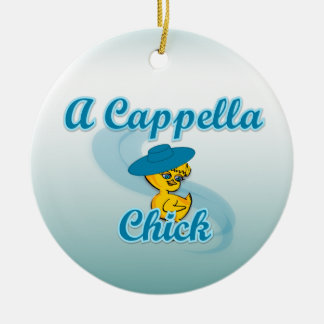 A Cappella Chick #3 Double-Sided Ceramic Round Christmas Ornament