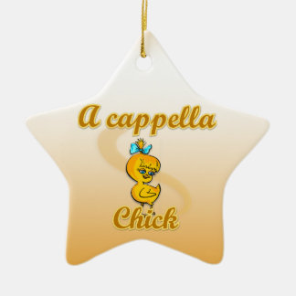 A cappella Chick Double-Sided Star Ceramic Christmas Ornament