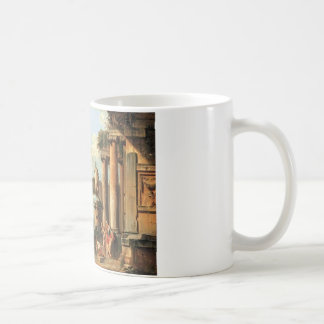 A capriccio of classical ruins with Diogenes Coffee Mug