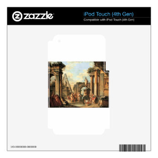 A capriccio of classical ruins with Diogenes iPod Touch 4G Decal