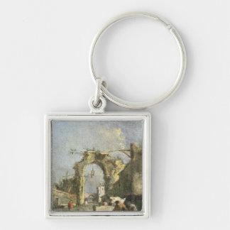 A Capriccio - Ruins, 18th century Keychains