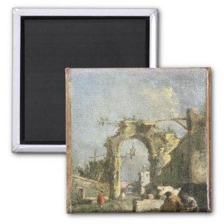 A Capriccio - Ruins, 18th century Magnet