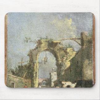A Capriccio - Ruins, 18th century Mouse Pad