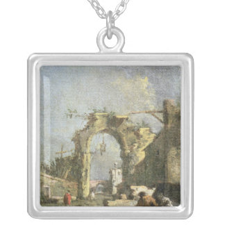 A Capriccio - Ruins, 18th century Pendant