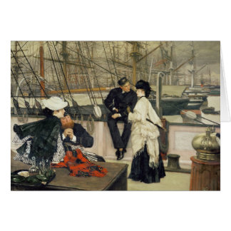 A Captain and First Mate Entertaining the Ladies Card