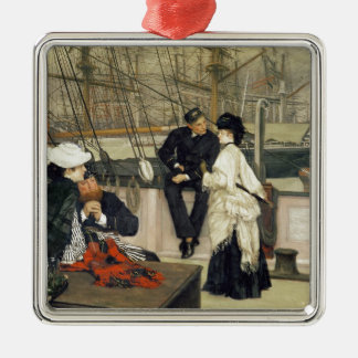 A Captain and First Mate Entertaining the Ladies Metal Ornament