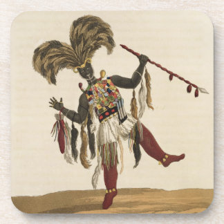 A Captain in his War Dress, from 'Mission from Cap Beverage Coaster