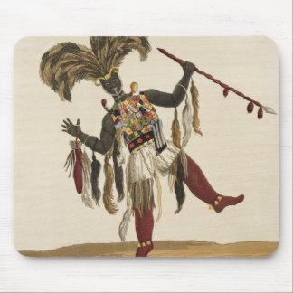 A Captain in his War Dress, from 'Mission from Cap Mouse Pad