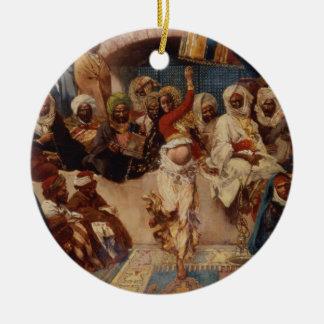 A Captive Audience, 1883 (oil on canvas) Ceramic Ornament