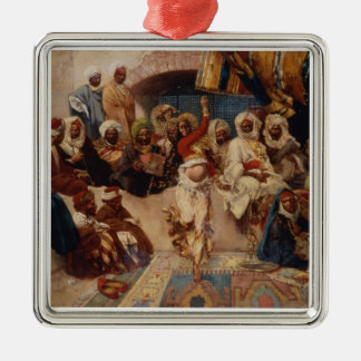 A Captive Audience, 1883 (oil on canvas) Metal Ornament