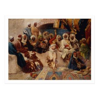A Captive Audience, 1883 (oil on canvas) Postcard