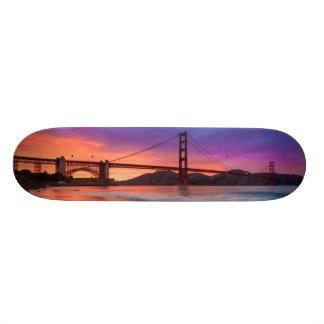 A capture of San Francisco's Golden Gate Bridge Skateboard Deck