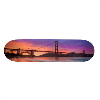 A capture of San Francisco's Golden Gate Bridge Skateboard Deck