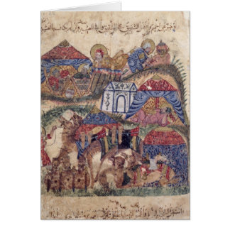 A Caravan Stop, from 'The Maqamat'  by Greeting Card