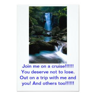 A card for a trip on a cruise. custom invite