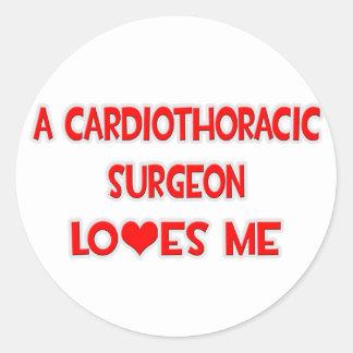 A Cardiothoracic Surgeon Loves Me Round Sticker