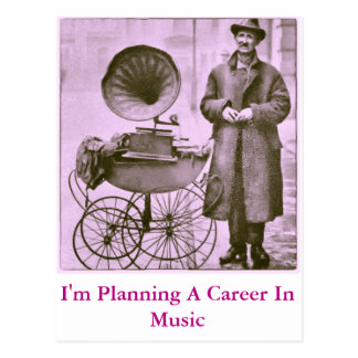 A Career In Music - Postcard