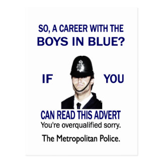 A CAREER WITH THE BOYS IN BLUE? POSTCARD
