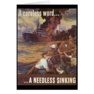 A Careless Word World War 2 Card