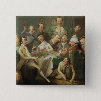 A Caricature Group, c.1776 (oil on canvas) Button