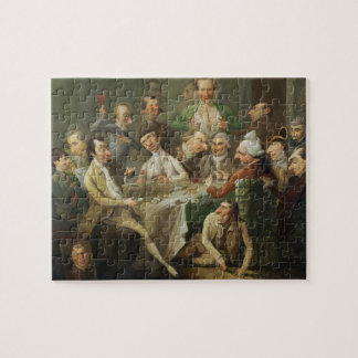 A Caricature Group, c.1776 (oil on canvas) Jigsaw Puzzle