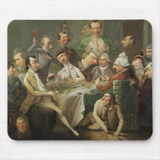 A Caricature Group, c.1776 (oil on canvas) Mouse Pad