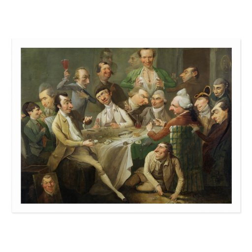 A Caricature Group, c.1776 (oil on canvas) Postcards