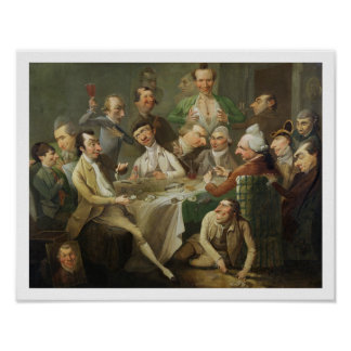 A Caricature Group, c.1776 (oil on canvas) Poster