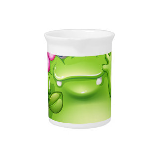 A caring greenslime monster pitcher