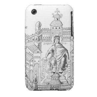 A Carlovingian king in his palace, personifying Wi iPhone 3 Case