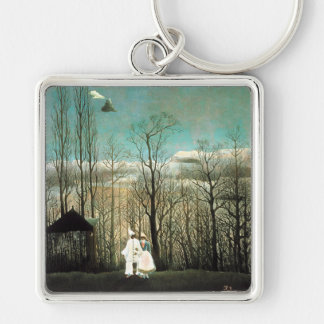A Carnival Evening, Henri Rousseau Keychain