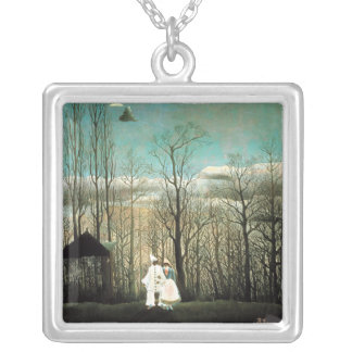 A Carnival Evening, Henri Rousseau Silver Plated Necklace
