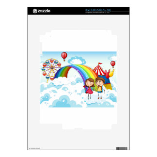 A carnival in the sky with a rainbow decal for iPad 2