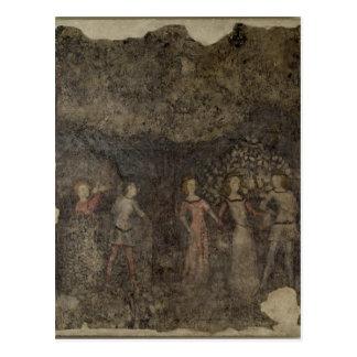 A Carole, c.1380-90 Postcard
