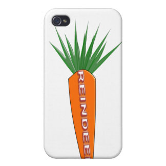 A Carrot for Christmas Reindeer  iPhone 4 Cover