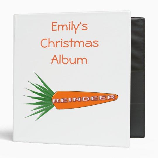 A Carrot for Christmas Reindeer Photo Album Binder