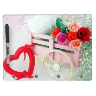 A Cart Full Of Love Dry Erase Board With Keychain Holder