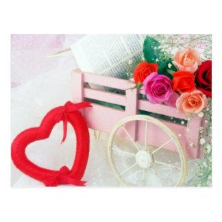A Cart Full Of Love Postcard