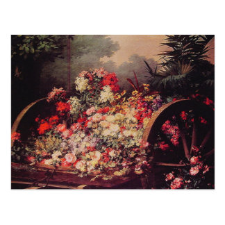 A Cart of Flowers Postcard