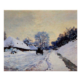 A Cart on the Snow Covered Road with Saint-Simeon Poster