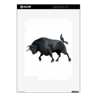 A Cartoon Bull in Side Profile Decal For iPad 2