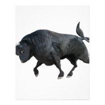 A Cartoon Bull in Side Profile Letterhead
